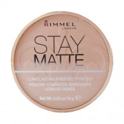 Rimmel London Stay Matte Long Lasting Pressed Powder 002 Pink Blossom 14G Per Donna (Cosmetic)