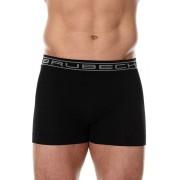 Brubeck Comfort Cotton varrat nélküli férfi boxeralsó, fekete M