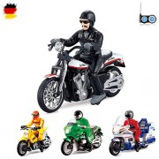 HSP Himoto RC Radio Controlled Motorbike 4Various Models Police, Motocross, Chopper, US, Ready to Drive, with Remote Control and Integrated Battery Frame
