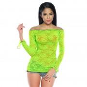 Rochita dantela transparenta Neon