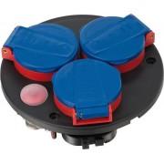 Module équipé de 3 prises IP44 Thermostat avec témoin lumineux
