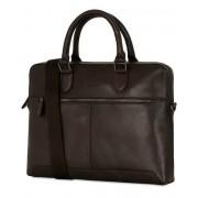 Oscar Jacobson Leather Computerbag Dark Brown