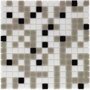 Douche Concurrent Mozaiektegel Amsterdam White - Grey - Black Mix Soft Grain Glass 322x322