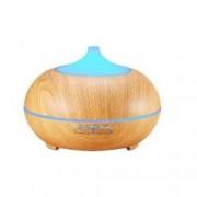 Umidificator Optimus AT Home TM 1704 cu ultrasunete aromaterapie 25-30m purificator aer difuzor rezervor 300ml light wood