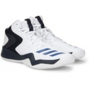 ADIDAS CRAZY TEAM II Basketball Shoes For Men(White, Navy)
