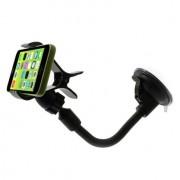 Shop4 - iPhone 5(s) Autohouder Raamhouder Knijpklem Zwart