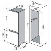Rex Electrolux RNN 2800 AOW Incasso 277L A+ Bianco frigorifero con congela