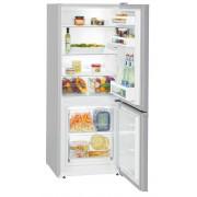 Combina frigorifica Liebherr CUel 2331, 209 L, SmartFrost, Control mecanic, 2 sertare legume, Iluminare LED, H 137.2 cm, A++, Argintiu
