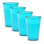 HAB & GUT Trinkbecher 4er Set wiederverwendbar blau
