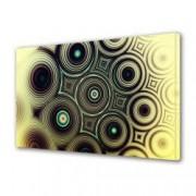 Tablou Canvas Premium Abstract Multicolor Cercuri Alaturate Decoratiuni Moderne pentru Casa 80 x 160 cm