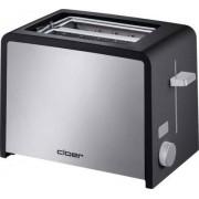 Cloer 3210 - Grille-pain -électrique - 2 tranche - noir/inox