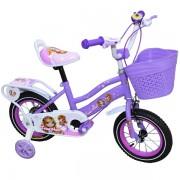 """Bicicleta pentru fetite, Free Star, 16"""", roti ajutatoare, cos de depozitare, cadru din otel"""