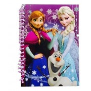 """Disney Frozen Journal With Pencil Hardcover 5""""X7"""" Spiral Notebook Elsa Anna Olaf Diary"""