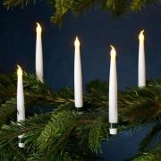 Set of ten wireless Xmas tree candles Carolin
