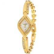 Evelyn Stainless Steel Gold Plated Wrist Watch for Women-EVE-534