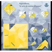 Spain 2017 Origami Art Paper Folding Unique Unusual Stamp Souvenir Sheet MNH