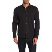JASON SCOTT Wilson Long Sleeve Trim Fit Shirt BLACK
