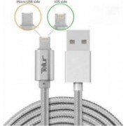 Cablu De Date Tellur 2 in 1 USB Reversibil Micro USB si Lightning 1m Argintiu