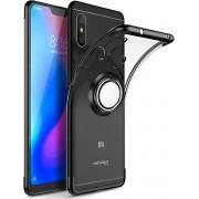 Xiaomi Mi A2 Lite Luxury Laser Ring Silicone Case Black