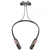 Wireless Bluetooth 4.2 In-ear Sports Magnetic Neckband Headset with Microphone - Gold