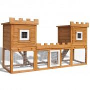 Sonata Външна клетка за зайци/малки животни дървена голяма двойна къща