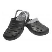 Happy Shoes Freizeit-Clogs mit Fußreflex-Massage-Sohle, Farbe schwarz, Gr.42