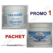 PROMO1 - Crema THERMO Slimming Anticelulitica Cosmedic si Crema COLAGEN (Pachet)