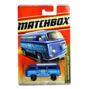 "Mattel Year 2010 Matchbox Mbx Outdoor Sportsman Series 1:64 Scale Die Cast Car #79 ""Maky M. Blue Horse Trainers"" Blue Color Camper Panel Van Volkswagen T2 Bus (T8979)"