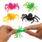 Trick or treat toys - 12 Stretchy Spiders. Great for party bags. Size 7cm.