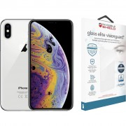 Apple iPhone Xs 64 GB Zilver + InvisibleShield Glass+ VisionGuard screenprotector