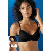 Next Non Pad Full Cup Bras Two Pack - Black/White