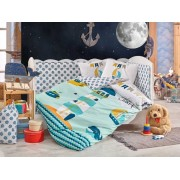 Hobby Home Collection Комплект в кроватку Hobby Home Collection с одеялом Baby Sailor (10 предметов) 100х150 см