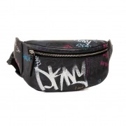 Чанта за кръст DKNY - Tilly Belt Bag Stree R93IN548 Blk Mlt/White KFI