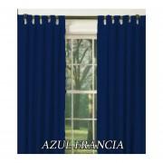 Cortinas Microfibra Larga 140x210 AZUL FRANCIA