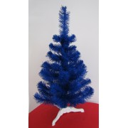 Brad artificial albastru cu cetina fina 80cm