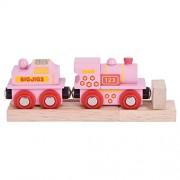 Bigjigs Rail BJT412 Pink 123 Engine