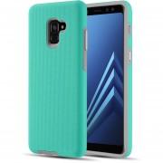Funda Case Samsung A8 (No Plus) Uso Rudo - Menta