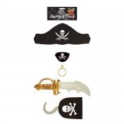 Merkloos 5-Delige piraten speelgoed verkleedset