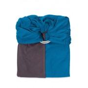 je porte mon bébé Echarpe de portage Sans Nœud JPMBB - Bleu Canard Marron Glacé