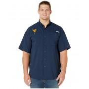 Columbia College Big amp Tall West Virginia Mountaineers Collegiate Tamiamitrade II Short Sleeve Shirt Collegiate Navy