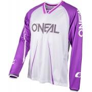 Oneal Element FR Blocker Bicicleta Jersey Blanco/Lila XXL