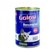 GOLOSI CAT BOCCONCINI TROTA E SALMONE 405GR