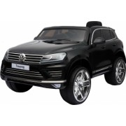 Masinuta electrica Premier Volkswagen Touareg 12V roti cauciuc EVA scaun piele ecologica negru