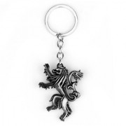 Optimus traders Game of Thrones Family crest House Lannister 3D 5cm Locking Key Chain(Gold)