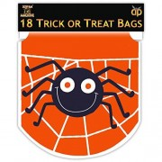Halloween 18 Orange Spider Trick Or Treat Gift Loot Drawstring Party Bags