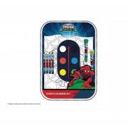 Marvel set per colorare e disegnare con colori e timbri spiderman sp0183 934