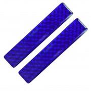 Fényvisszaverő matrica 2db-os 2x10cm műgyantás kék 825