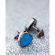Dare by Voylla Turquoise Stone Black Rhodium Milestone Cufflinks