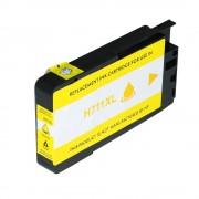 HP Cartucho de tinta para HP CZ132A / 711 amarillo compatible (marca ASC)