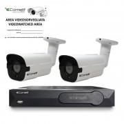 Kit videosorveglianza Comelit IP NVR con 2 telecamere bullet IPKITPOE085A